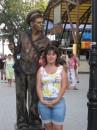 Живые статуи на набережной