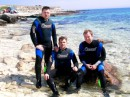 Я с друзьями в Крыму, мыс Тарханкут. Решили открыть сезон, понырять на майские.