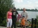 Я,сестра с мужем и детьми