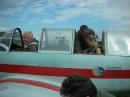 Pilot Wolodymyr i Ania na JAK-52