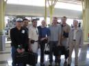 Я и мои сослуживцы из Румынии, Туниса, Непала и Таиланда в аэропорту Вашингтона