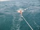 Самая яркая тема.., это когда яхта тянет тебя на буксир за ногу :))))))))))