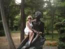 Я и Пушкин.Парк санатория Гурзуфский.