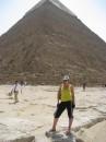 Гиза, пирамида Хефрена, сверху сохранилась оригинальная облицовка