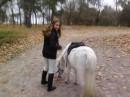 Я и Мальвинка, тоже наша пони.