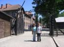 С моим польским другом Mihalom w Auschwitz`e (Oswiencim)