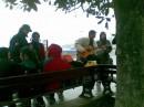 На набережной в Ялте со студентами