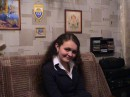 После очередного спектакля:)ю Вся щасливая и одухотворенная:)))