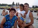с зятем и внучкой на черном море