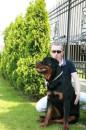 Со своим псом Мерфи.