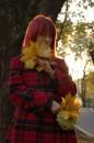 Мариинка, осень, листья, красный и оранжевый