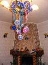 вот такими красивыми шариками был украшен дом