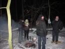 Шашлык в зимнем лесу