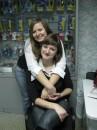 я и моя подружка у нее на работе))