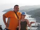 Это я с папой отдыхали на море