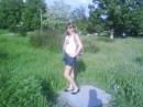 я в парке на камнях