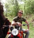 Десна, 30 км. от Киева. Я занимался мотоспортом. А щас так, понтуюсь.