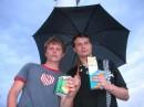 Швед и я, пьём за здоровье чата)))