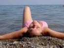 Дикий пляж...жара..чистая вода...шум моря...