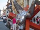 опять попала на выставку авангардистских фигур, только на этот раз в Праге)))