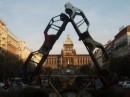 в центре этого равностороннего треугольника из старых авто можно лицезреть Национальный музей (Прага)