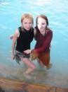 Наши купальщицы в источнике Св.Анны. Почаев.2005
