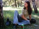 В парке на обеде