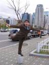 учимся летать :)  (Seul, Koreya, ноябрь 2005)