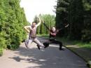 это не фотошоп,просто прыгаем мы хорошо:)))фото зделано в селе Пирогово