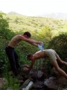Май 2005, обливание из родника. Вода - огонь