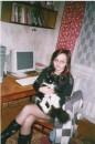 Это я со своей любимой кошкой Соней.