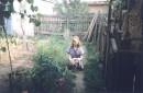 в саду........