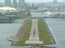 Final approach in London-city Airport (LCY)