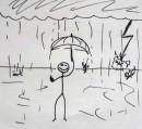Я просто обожаю дождь с молнией, грозой и громом! (на фоне - мои враги :)