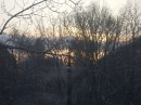 Вот какой вид, из окна моей комнаты, открывается на зимнее утро