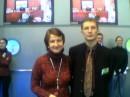 когда-то в 2002 году это была я.  Выставка Информатика и связь-2002.