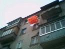 Моя валентинка вырезанная из ватмана, поднятая в семь утра 80-тью шариками... Это нужно было видеть в живую :)