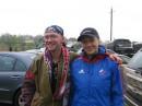 Это я с Ольгой Зайцевой на Майской лыжне. :)