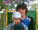 Это на даче с моим племянником Андрюхой!