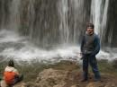 На фоне водопада Джур-Джур.