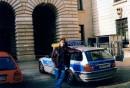 В Гамбурге, я в обнимку с полицейской BMW