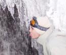 на водопаде, маленьком