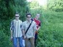 Ёжик справа от меня и Серега - мои друзья :-)))