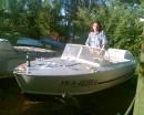 Первая пьянка в лодке, пусть и на суше))