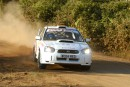 In Africa two weeks ago!! Flat out and in the lead!!