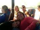 в автобусе по дороге в New York: Иванна (Словакия) Витя (УКраина) Ира (Россия) и Антон (Россия)