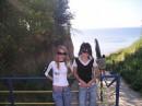 На море с сестрой.