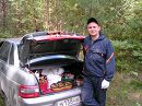 """С трофеями """"тихой охоты"""". :-) 12 августа 2006 года, неподалеку от деревни Славкино, Ульяновская обл."""