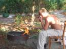 Шашлыка как всегда оказалось мало, пришлось зажарить сардельки :-)