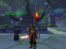 В крепости Силвер Уинг, Уорсонг Галч, с флагем Орде, с ельфишка